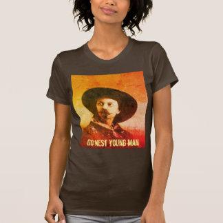 Vintage Go West Wild West Ladies T-shirt