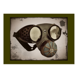 Vintage Goggles Respirator Image Pack Of Chubby Business Cards