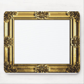Vintage Gold Antique Scroll Photo Frame Mouse Pad