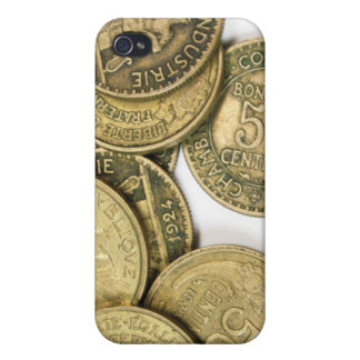 Vintage Gold Coins  Covers For iPhone 4
