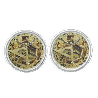Vintage Gold Compass image Cuff Links
