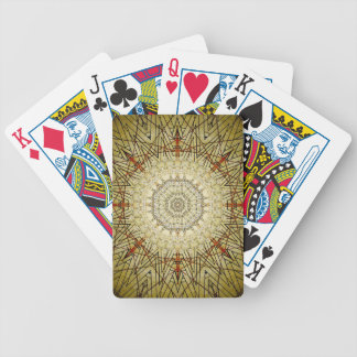 Vintage Gold Compass Mandala Bicycle Playing Cards
