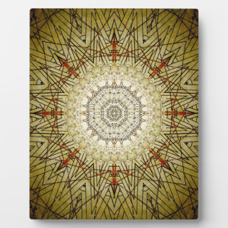 Vintage Gold Compass Mandala Plaque