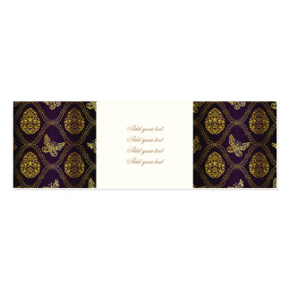vintage,gold,damask,butterfly,pattern,chic,girly, pack of skinny business cards
