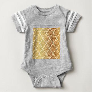 Vintage,gold,damask,floral,pattern,elegant,chic, Baby Bodysuit