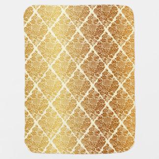 Vintage,gold,damask,floral,pattern,elegant,chic,be Baby Blanket