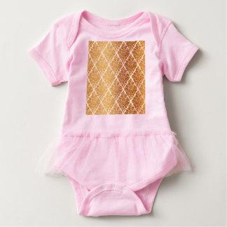 Vintage,gold,damask,floral,pattern,elegant,chic,be Baby Bodysuit