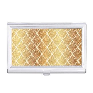 Vintage,gold,damask,floral,pattern,elegant,chic,be Business Card Holder