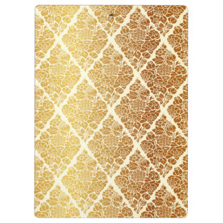 Vintage,gold,damask,floral,pattern,elegant,chic,be Clipboard
