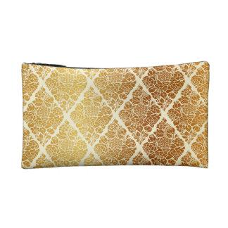Vintage,gold,damask,floral,pattern,elegant,chic,be Cosmetic Bag
