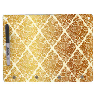 Vintage,gold,damask,floral,pattern,elegant,chic,be Dry Erase Board With Keychain Holder