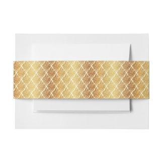 Vintage,gold,damask,floral,pattern,elegant,chic,be Invitation Belly Band