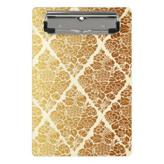 Vintage,gold,damask,floral,pattern,elegant,chic,be Mini Clipboard