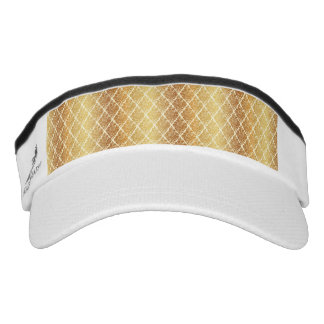 Vintage,gold,damask,floral,pattern,elegant,chic,be Visor
