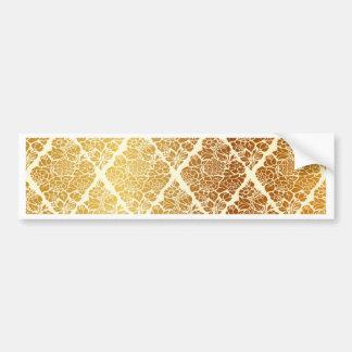 Vintage,gold,damask,floral,pattern,elegant,chic, Bumper Sticker