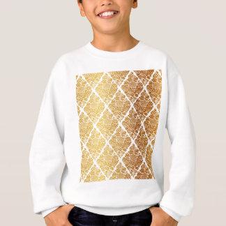 Vintage,gold,damask,floral,pattern,elegant,chic, Sweatshirt