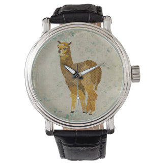 Vintage Gold Diamond Alpaca Watch