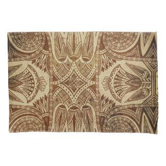 Vintage Gold Egyptian Paper Print Pillowcase