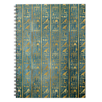Vintage Gold Egyptian Paper Print Spiral Notebook