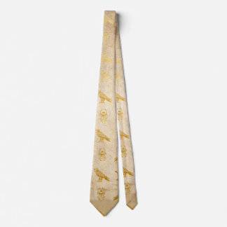 Vintage Gold Egyptian Paper Print Tie