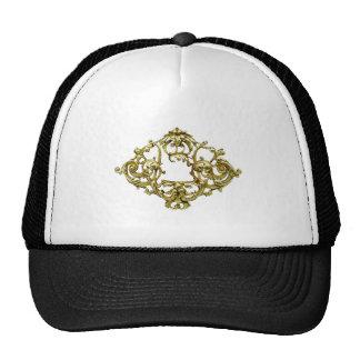VINTAGE GOLD FILIGREE DESIGN TRUCKER HAT
