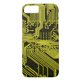 Vintage Gold Ghost Circuit Board Design iPhone 7 Case
