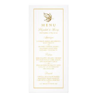 Vintage Gold Glitter Butterfly Wedding Menu