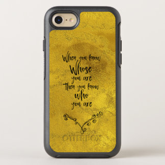 Vintage Gold: Inspirational Faith Quote OtterBox Symmetry iPhone 7 Case