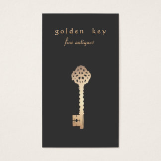 Vintage Gold Key Business Card
