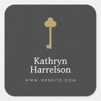 Vintage Gold Key Designer Stickers