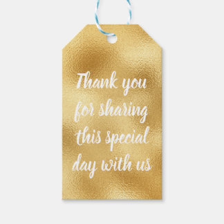 Vintage Gold Thank You Glam Wedding Party Elegance Gift Tags