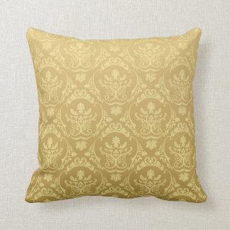 Vintage Gold Throw Pillow