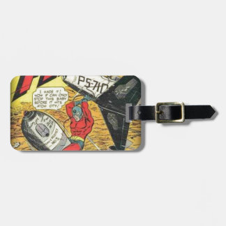Vintage Golden Age Comic Book Luggage Tag
