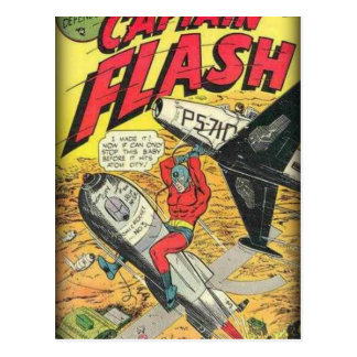 Vintage Golden Age Comic Book Postcard
