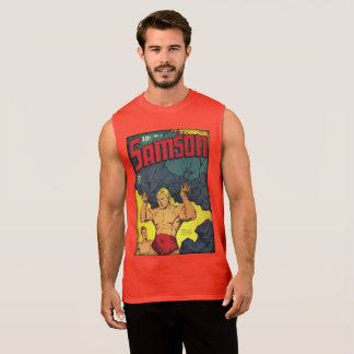 Vintage Golden Age Comic Book Sleeveless Shirt