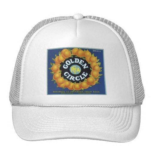 Vintage Golden Circle Fruit Crate Label Mesh Hat