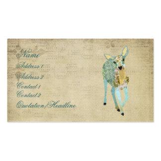 Vintage Golden Dearest Deer Business Card/Tags