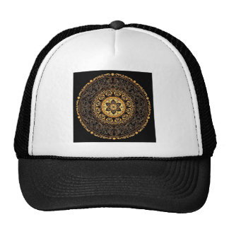 VINTAGE GOLDEN FILIGREE TRUCKER HAT