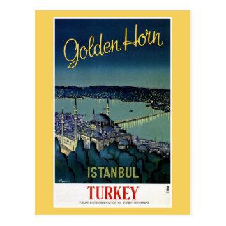 Vintage Golden Horn Istanbul Turkey travel Post Cards