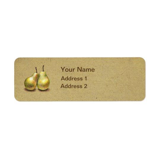 Vintage Golden Pears Custom Address Label