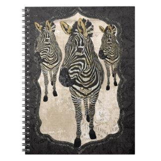 Vintage Golden Zebras Notebook