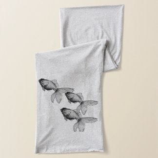 Vintage Goldfish Illustration on scarf