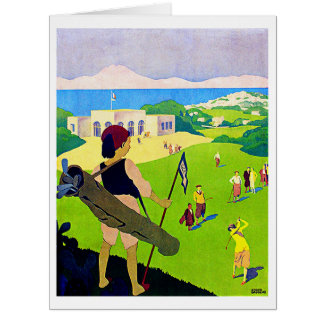 Vintage Golf - Big Greeting Card