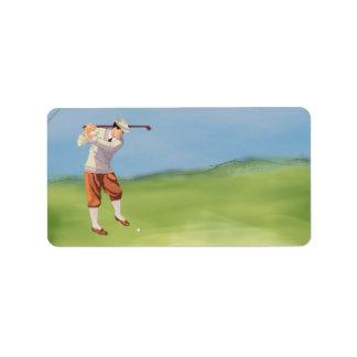 Vintage Golfer by Riverbank Personalized Address Labels