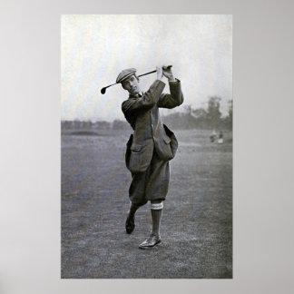 Vintage Golfer: George Duncan Poster