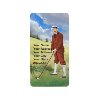 Vintage golfer in the rough