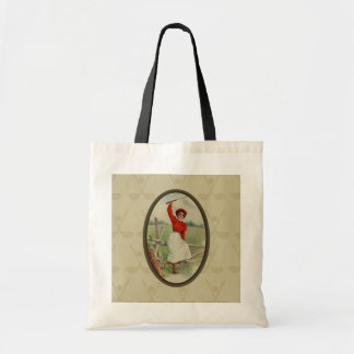 Vintage Golfing Lady Art (two) Tote Bag