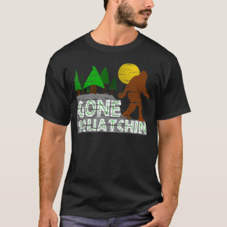 Vintage GONE SQUATCHIN Distressed Graphic T-shirt