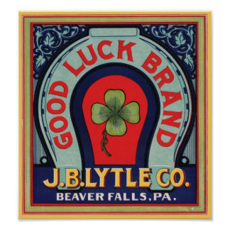 Vintage Good Luck Brand J. Bl Lytle Co. Crate Labe Poster