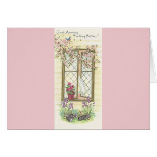 """Vintage """"Good Morning And Get Well"""" Card"""